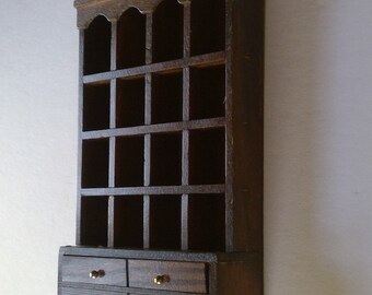 Vintage Thimble Collection Wall Display Case
