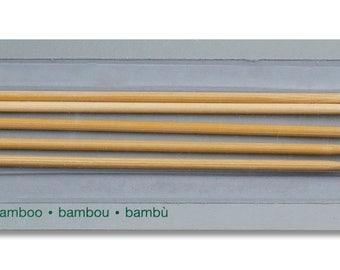 Kurze Stricknadeln, Strumpfstricknadeln, Nadelspiel aus Bambus in verschiedenen Stärken, 15cm lang