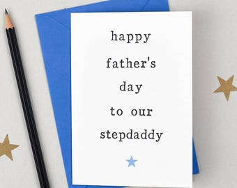 Father's Day Card, Card for Stepdad, Stepdaddy Card, Card for Stepdaddy, Step Parents, My Stepdad, Father's Day, Fathers Day Stepdad Card