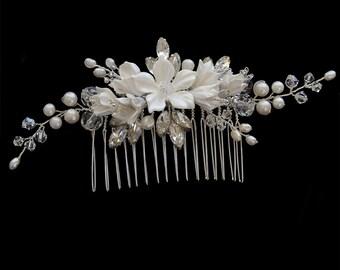 Bridal Comb, Wedding headpiece, Bridal Headpiece, Wedding Comb, Bridal Accessories, wedding Accessories, Hair Jewellery   HARPER Silver
