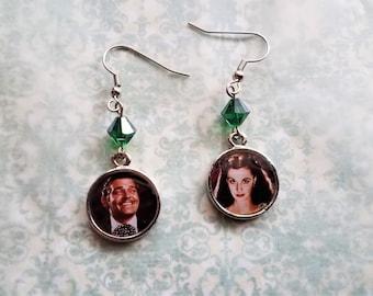 Gone with the wind Rhett and Scarlett earrings