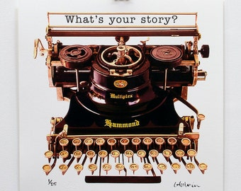 "17 x 17"" limited edition print - what's your story - unframed"