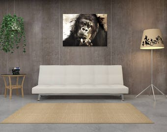 Table Gorilla thinker, digital art design