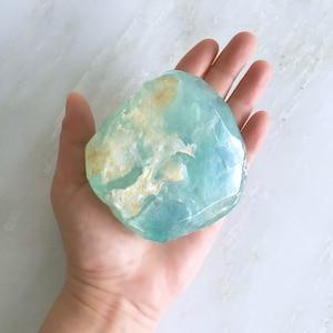Raw March Birthstone-Aquamarine 5oz Mineral Soap.