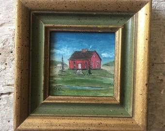 Miniature Landscape with Barn