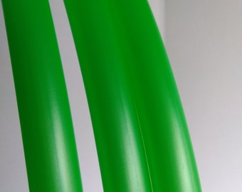 5/8 Twistid Orbit Green Polypro Hula Hoop Custom Made Collapsible