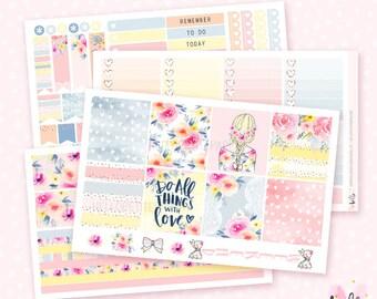 Summer Garden - 4 sticker sheet kit for the Horizontal Erin Condren planner