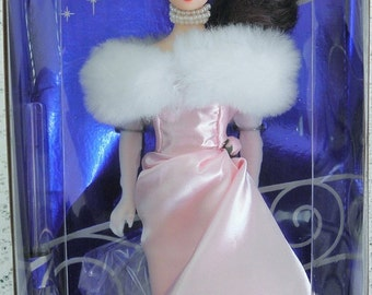 Enchanted Evening Barbie Collector Edition 1960, reprised 1996 by Mattel, Pale Pink Satin Gown with White Fur Stole, still in the box