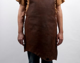 Oiled leather apron L to 2 XL barbeque bbq grill cooking outdoor kitchen urban couture design larp game of thrones blacksmith warcraft larp