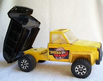 Vintage Tonka Truck 1970s Trax Dump Truck/Toy Truck/Industrial/Modern/Gifts/Retro/Primitive/Rustic/Gifts/Holiday/Gift/Toys/Metal Toy/Truck