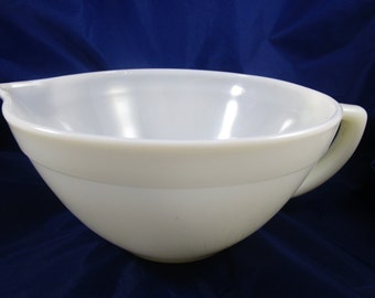 Fire King Milkglass Batter Bowl, Oven Ware, Mixing Bowl with Handles