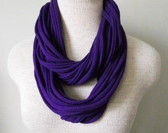 Jersey Tee Circle Scarf in Purple - Plum - Grape - Violet - Amethyst - Eggplant