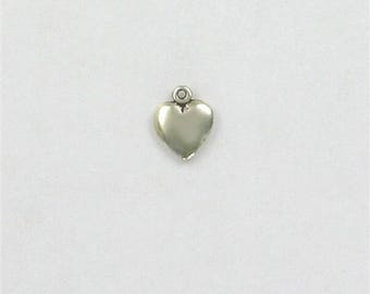 Sterling Silver Small Puffed Heart Charm