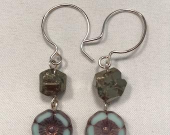 Flower Power Pyrite Earrings