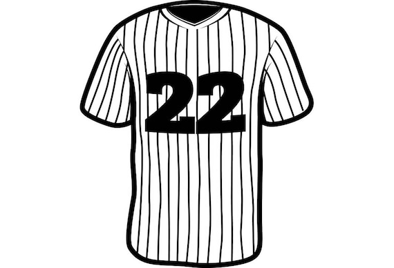 baseball jersey 1 uniform ball sports league equipment team rh etsy com blank baseball jersey clipart Baseball Shirt Clip Art