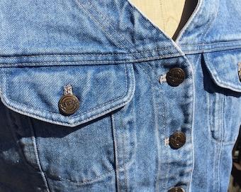 Nevada Jeans Cropped Denim Vest