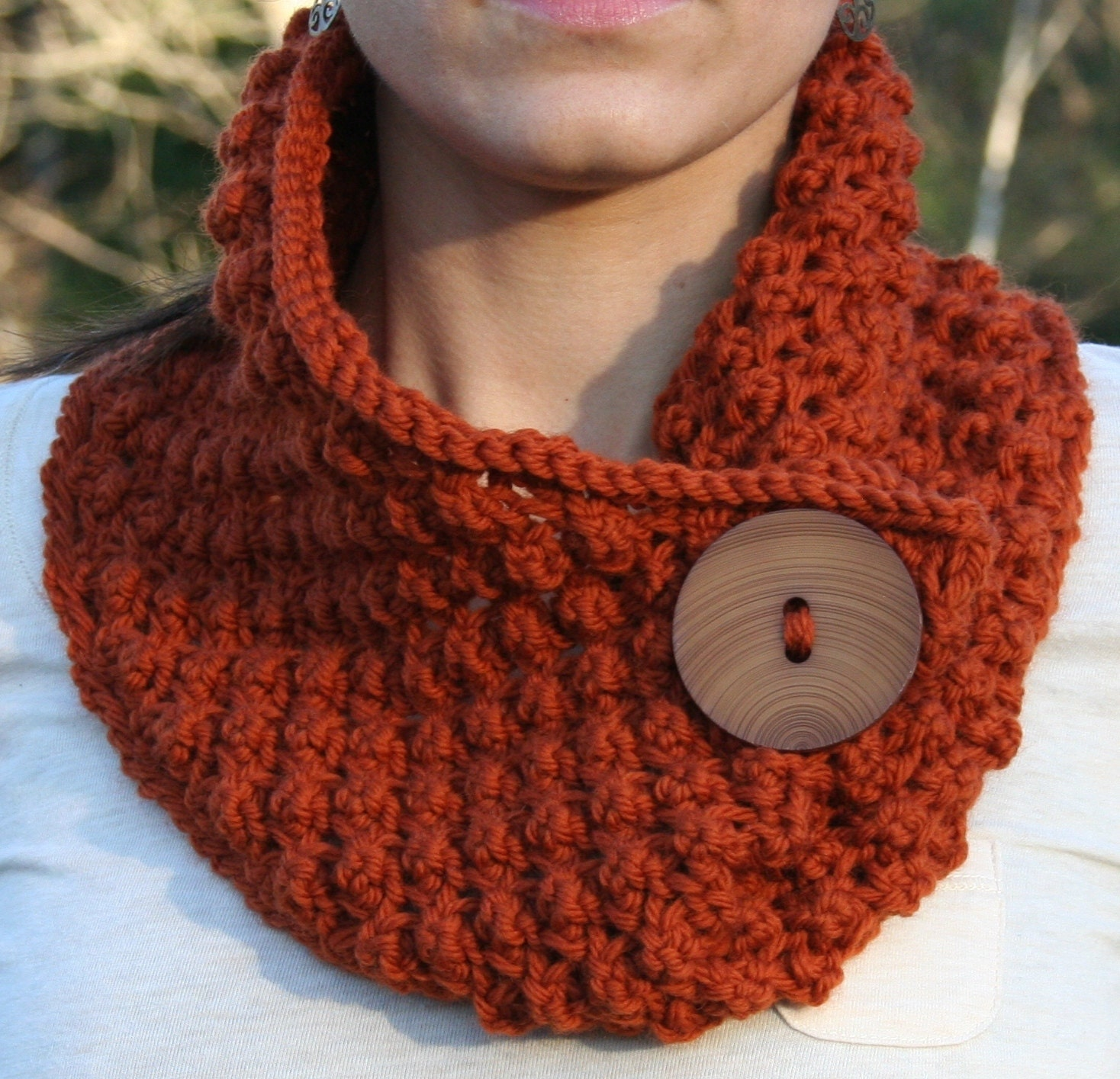 Lace Cowl knitting Pattern PDF Download