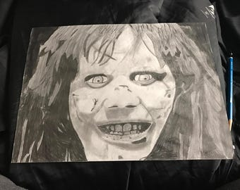 The Exorcist Movie drawing of Regan