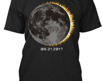 2017 Total Solar Eclipse Moon  Tee T-Shirt