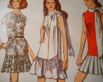 Vintage 1970's Simplicity 8684 Dress Sewing Pattern Size 14 Bust 36