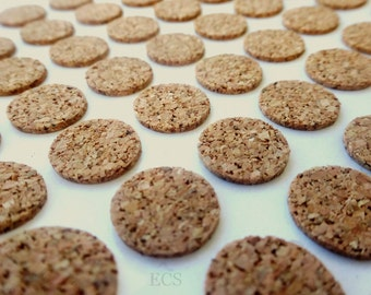 "1"" Cork Discs 1"" x 1/16"" Cork Tile Backing With Adhesive - Pack of 40, 80, 500 or 1000 - For Coasters & Other Craft Projects"