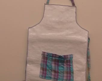 Feed Sack Apron, Small Adult or Child