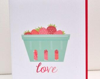 Love Strawberry Greeting Card