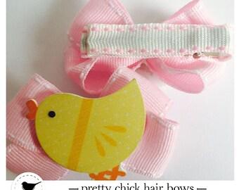 Cute chick  hair bow