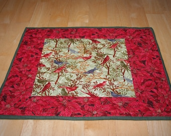 Placemats (4) --Birds Singing In The Holly--Reversible--Includes Shipping