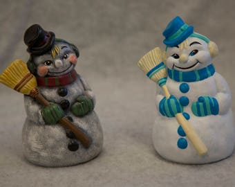Hand-Painted Ceramic Snowman