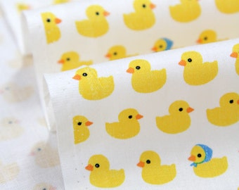 Yellow Ducks Cotton Fabric - By the Yard 74296
