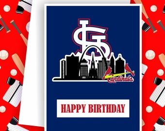 Cardinals - St. Louis Cardinals Fan, Baseball Team Card,  Baseball Greeting Card