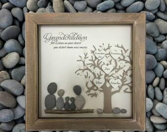 Grandchildren Family Tree, Grandmother Mothers Day gift, Gift for Grandma, Grandparent gift, Grandchildren frame, Personalised, Grandpa Gift