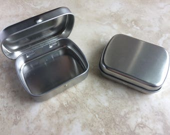 Set of Mini Hinged Survival Tin Crafting or Shipping Canadian Standard