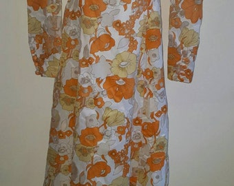 Tangerine dream 70s vintage maxi dress FLASH SALE