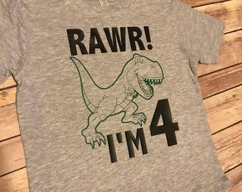 RAWR! I'm 4 shirt