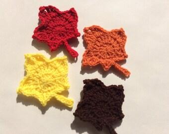 Crochet Maple Leaf Set