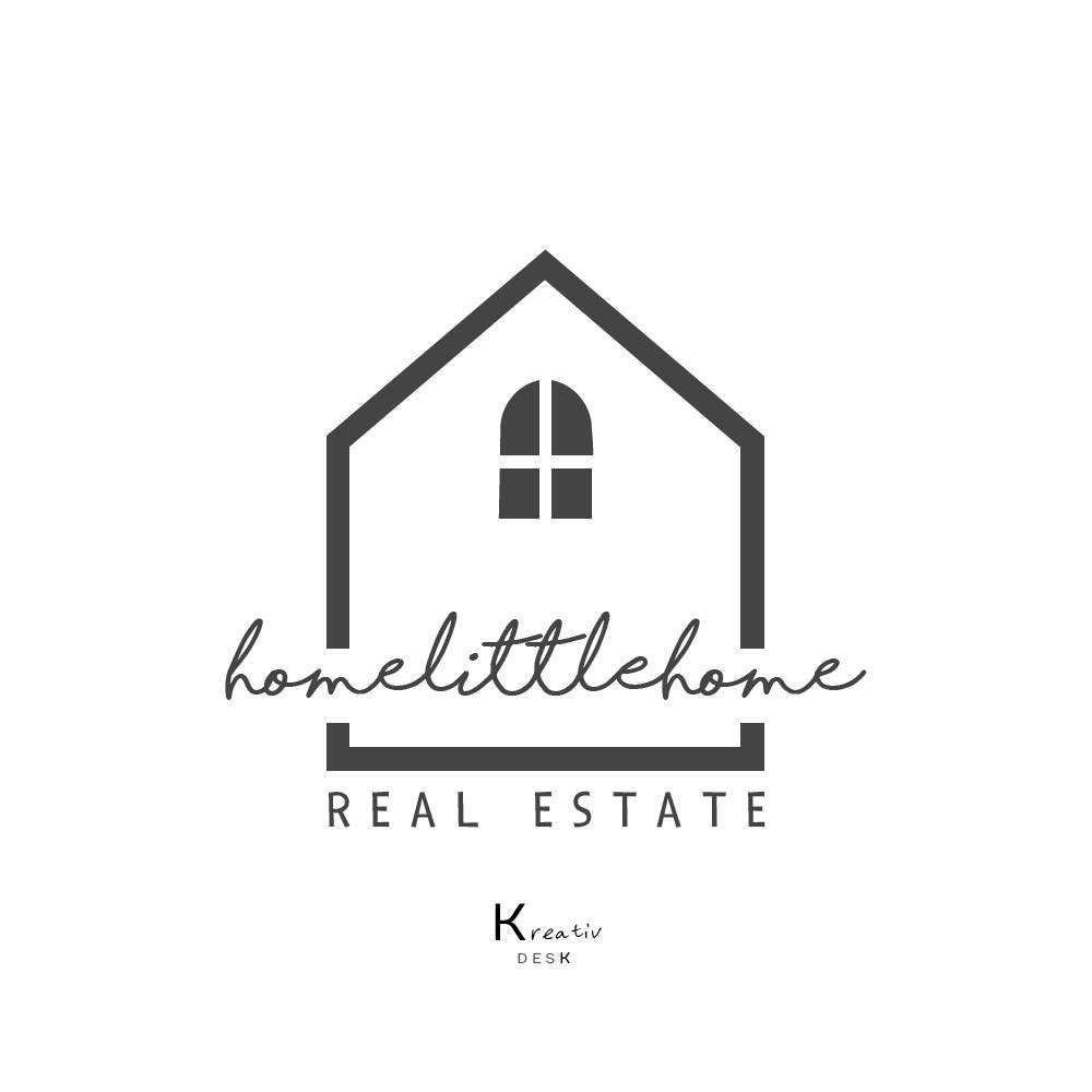 Home logo design house logo real estate logo home decor for Household design logo