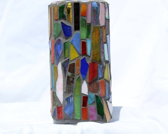 Multi-Colored Stained-Glass Vase 2