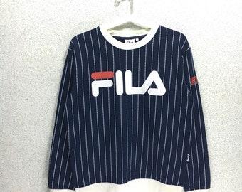 Rare!!Vintage Fila Big Logo Sweatshirt spellout Jumper