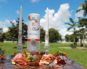 Fall / Autumn  Unity Candle set...... Choose your season