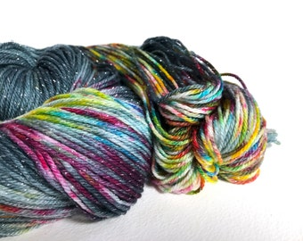 Starborn Sparkle Sock Yarn. Sailing Through Space