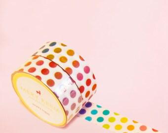 CANDY POLKA DOT Washi Tape | Masking Tape | Korean Washi Tape | Polka Dot | Deco Tape | Scrapbooking | Japanese Tape | Diy | Planner Sticker