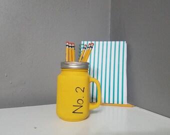 Teacher Appreciation Gift/ Mason Jar Gifts For Teacher/ End of School Teacher Gift/ Pencil Holder Gift/ Teacher Gift/ Mason Jar w/ Handle