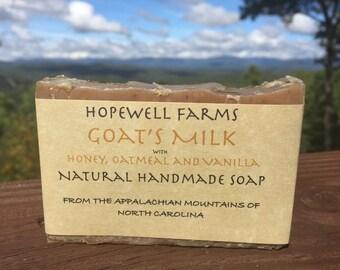 Goat's Milk Honey Oatmeal Soap with Vanilla