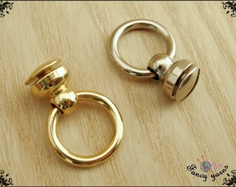Ring Attachments, Screw Attachment, Available in Gold or Silver, 2 Pcs
