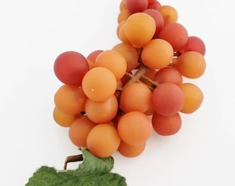 Red Orange Grapes   Artificial Fruit   Cake Topper   Millinery Fruit   Wreath Supplies   Faux Fruit   Fake Grapes   The Blue Hutch GB101