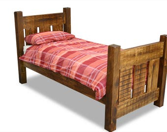 Single wooden plank bed Ex display