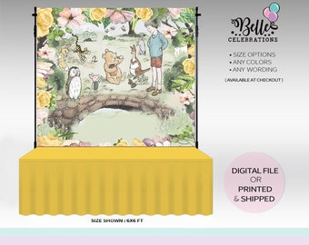 Vintage/ Classic/ Winnie / Banner / Backdrop/ Baby Shower / Step and Repeat / Print and Ship!
