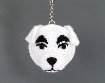 Crochet KK Slider from Animal Crossing Keychain, Animal Crossing, K.K. Slider, Nintendo Character, Dog, Accessory, Handmade